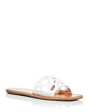 Schutz Women's Erika Woven Slide Sandals