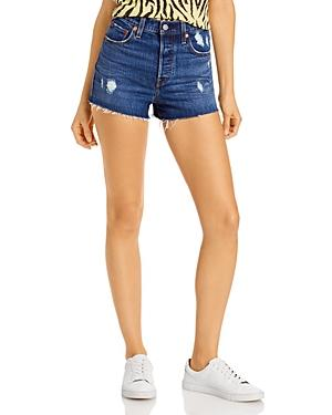 Levi's Ripped Cutoff Shorts In Charleston Chill
