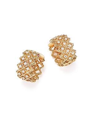Roberto Coin 18k Yellow Gold New Barocco Diamond Earrings