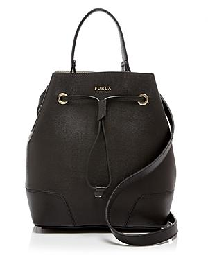 Furla Small Stacy Drawstring Leather Tote