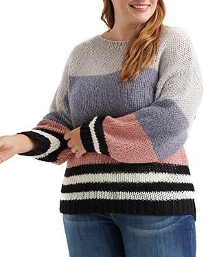 Lucky Brand Plus Bold Stripe Sweater