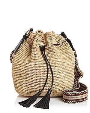 Stella Mccartney Mini Raffia Bucket Bag