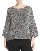 Eileen Fisher Plus Bateau Neck Boxy Sweater