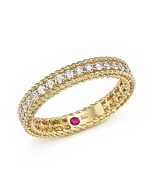 Roberto Coin 18k Yellow Gold Symphony Braided Ring With Diamonds