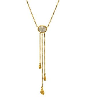 Chan Luu Labradorite Lariat Necklace In 18k Gold-plated Sterling Silver, 14