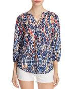 Beachlunchlounge Printed Peasant Top