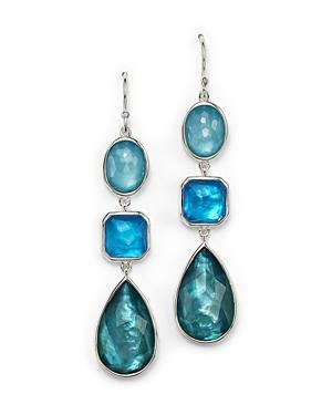 Ippolita Sterling Silver Wonderland Triple Drop Earrings In Blue Star