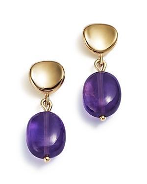 Amethyst Drop Earrings In 14k Yellow Gold - 100% Exclusive