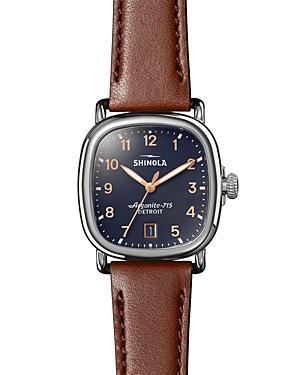 Shinola The Guardian Brown Leather Watch, 36mm