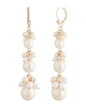 Carolee Cultured Freshwater Pearl Linear Drop Earrings