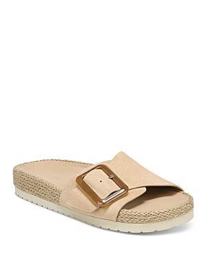 Vince Women's Grant Buckled Slide Jute Sandals