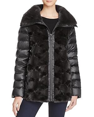 Maximilian Furs Mink Fur Down Coat - Bloomingdale's Exclusive