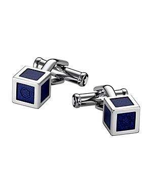 Montblanc Lacquered Stainless Steel Cube Cufflinks