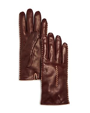 Bloomingdale's Whip Stitch Leather Gloves