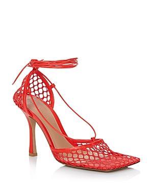 Bottega Veneta Women's Stretch Mesh Ankle Tie Sandals