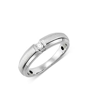 Bloomingdales Men's Diamond Classic Band In 14k White Gold, 0.10 Ct. T.w. - 100% Exclusive