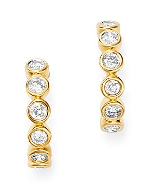 Bloomingdale's Bezel-set Diamond J-hoop Earrings In 14k Yellow Gold, 0.30 Ct. T.w. - 100% Exclusive