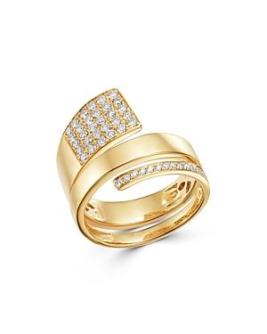Bloomingdale's Diamond Pave Coil Ring In 14k Yellow Gold, 0.55 Ct. T.w. - 100% Exclusive