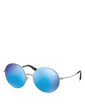 Michael Kors Mirrored Rimless Sunglasses, 55mm