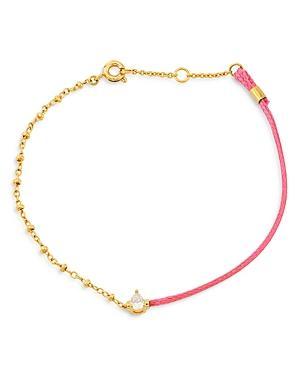 Ajoa By Nadri Half & Half Chain & Braided Cord Bracelet