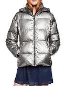 Bcbgeneration Metallic Hooded Puffer Jacket