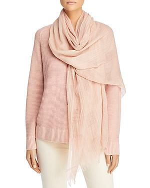 Eileen Fisher Plaid Organic Cotton Scarf
