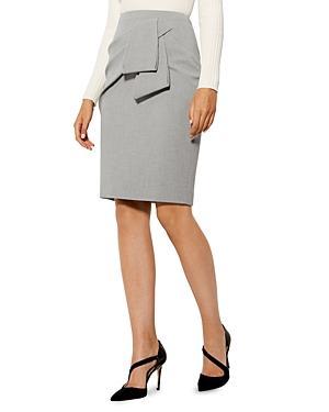 Karen Millen Drape-detail Pencil Skirt