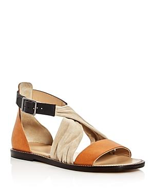 Belstaff Tallon Crisscross Color Block Sandals