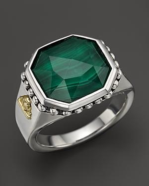 Lagos Malachite Doublet Ring