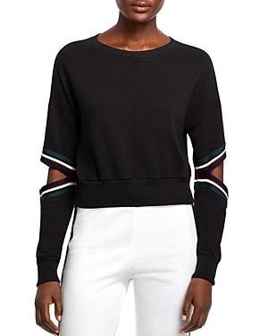 Michelle By Comune Orondo Cutout Cropped Sweatshirt