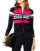 Karen Millen Striped Zip Cardigan