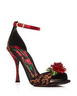 Dolce & Gabbana Women's Rose High-heel Sandals