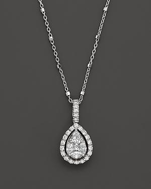Diamond Fancy Cut Teardrop Pendant Necklace, .65 Ct. T.w.