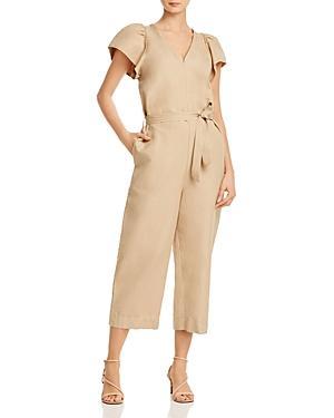 Rebecca Minkoff Zina Cropped Linen & Cotton Jumpsuit