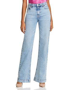 Paige Leenah Wide-leg Jeans In Liza
