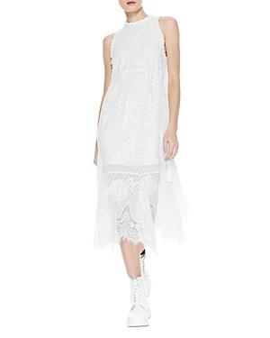 Alice And Olivia Angelyn Embroidered Lace Midi Dress