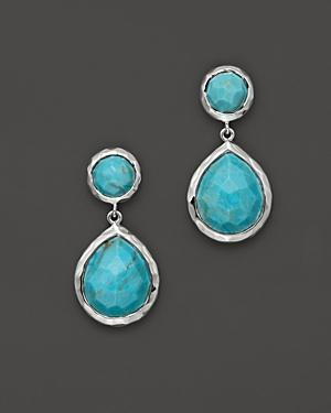 Ippolita Sterling Silver Rock Candy Snowman Teardrop Earrings In Turquoise