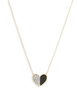 Adina Reyter 14k Yellow Gold Diamond Half And Half Heart Pendant Necklace, 16