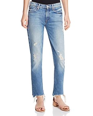 Mother Flirt Fray Jeans In Cold Feet