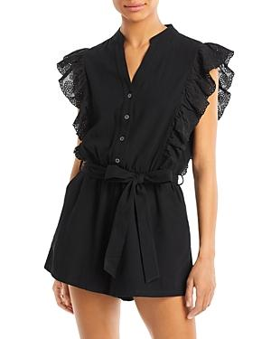 Aqua Therese Flutter Sleeve Romper - 100% Exclusive