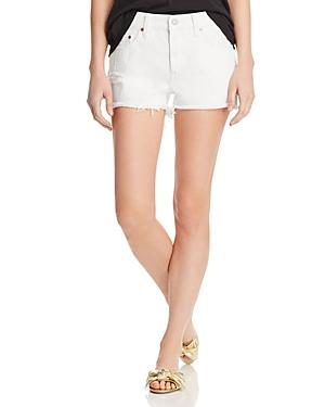 Levi's 501 Cutoff Denim Shorts In Pearly White
