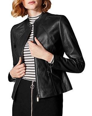 Karen Millen Zip-front Leather Jacket
