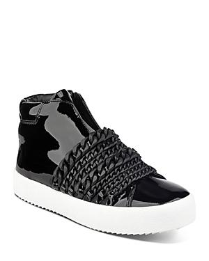 Kendall And Kylie Women's Duke Patent Leather & Chain Trim Zip Sneakers