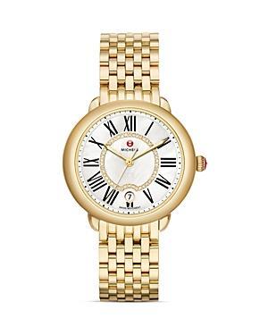 Michele Serein Mid Gold Watch, 36mm