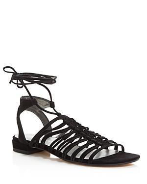 Stuart Weitzman Knotagain Lace Up Sandals