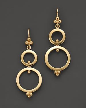 Temple St. Clair 18k Yellow Gold Double Ring Earrings