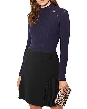Karen Millen Open-knit Button-detail Sweater
