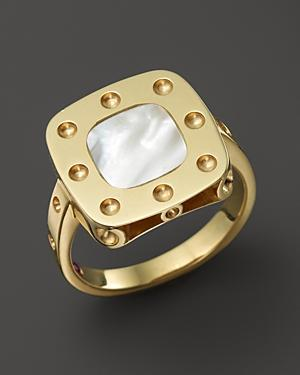 Roberto Coin 18k Yellow Gold Pois Moi Mother Of Pearl Ring