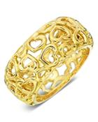 Gumuchian 18k Yellow Gold Tiny Hearts Dome Ring