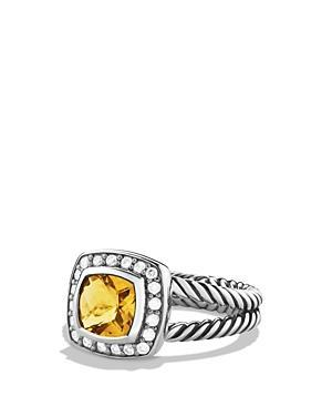 David Yurman Petite Albion Ring With Citrine & Diamonds